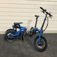 Blue FOLDING BIKE for sale - $750 or 2 for $1400